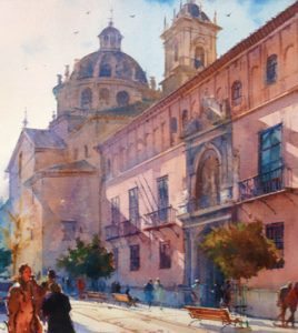 Acuarela-Calle-San-Jerónimo