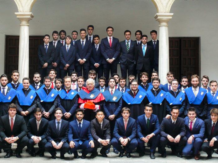 Colegiales del Real Colegio Mayor San Bartolomé y Santiago de Granada, Curso 2017/2018